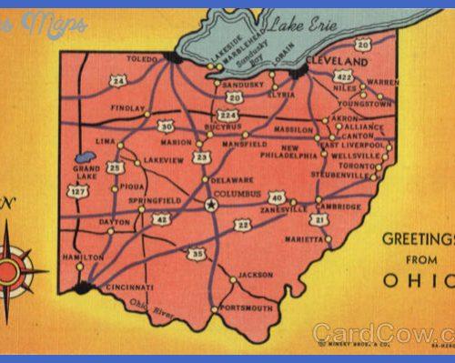 Ohio Tourist Map Maps