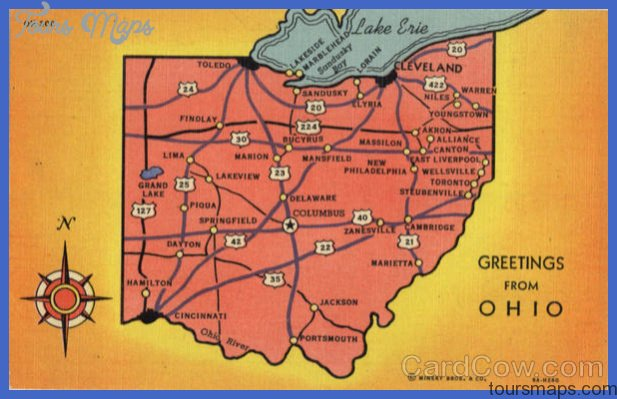 Ohio Tourist Map Maps