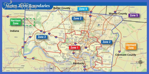 Zone Map: Cincinnati Metro - Southwest Ohio Regional Transit Authority