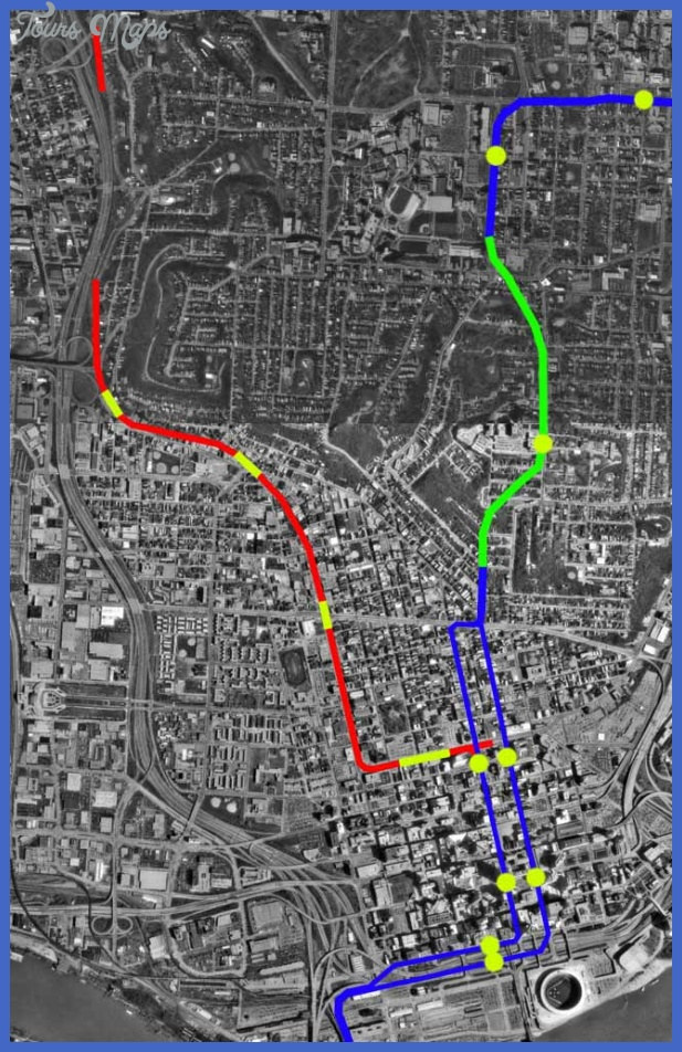 The completed subway tunnels are in red, ignore the blue and green