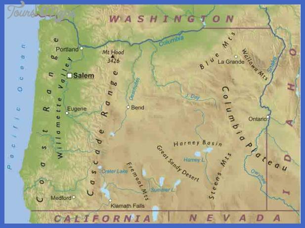 oregon map 7 Oregon Map