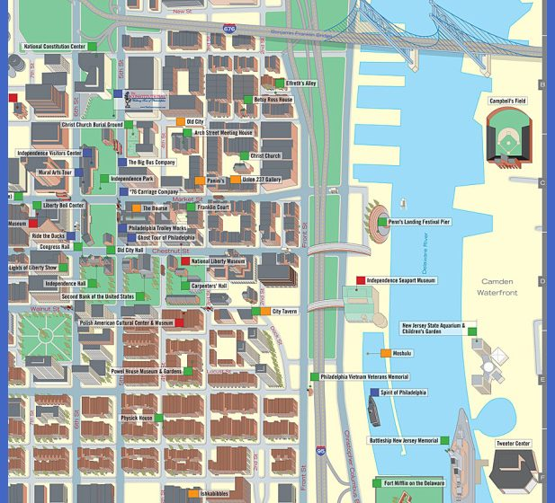 Top Map Of Philadelphia Tourist Attractions Images for Pinterest