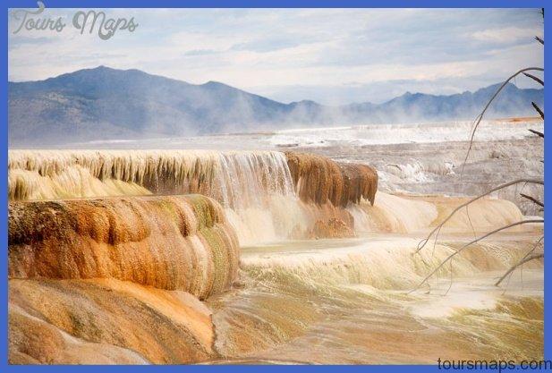 black water and travertine yellowstone 0 Black Water and Travertine Yellowstone