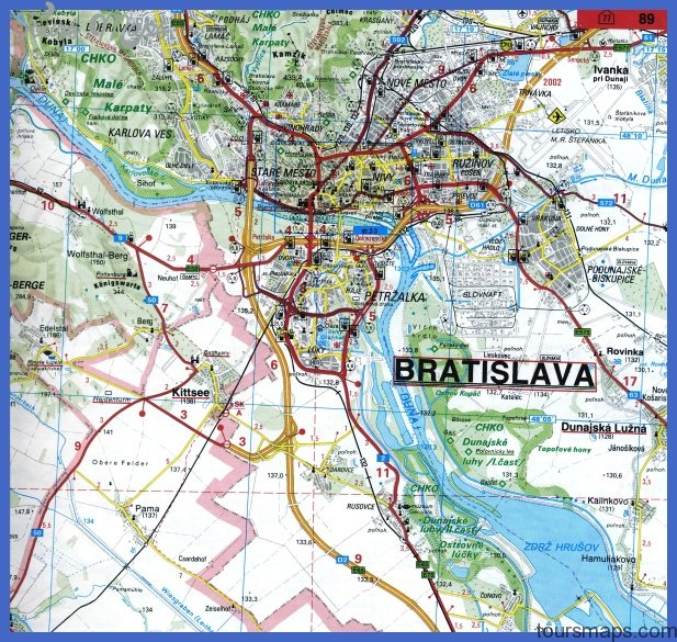 bratislava map 6 BRATISLAVA MAP