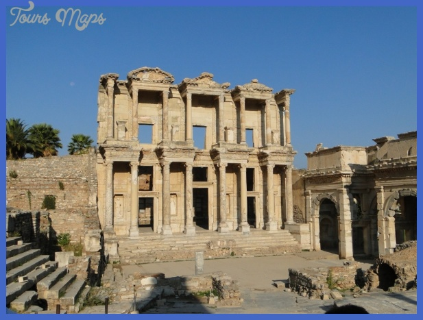 The Ancient city of Ephesus on the south west cost of Turkey near by ...