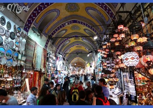 The Grand Bazaar in Istanbul is one of the largest and oldest covered ...