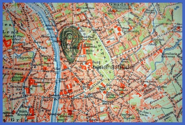 1898 Antique Map of Graz Austria by bananastrudel on Etsy