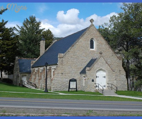 Historic Fort Yellowstone Chapel - Mammoth Hot Springs - Yellowstone ...