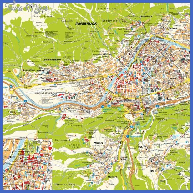 INNSBRUCK MAP ToursMapsCom – Salzburg Tourist Map Pdf