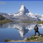 Fly fishing in front of the Matterhorn. Credit FlyFishZermatt