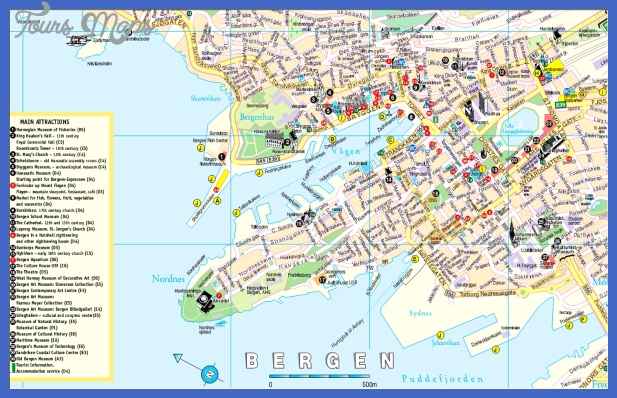 Bergen, Norway Tourist Map See map details From z.about.com