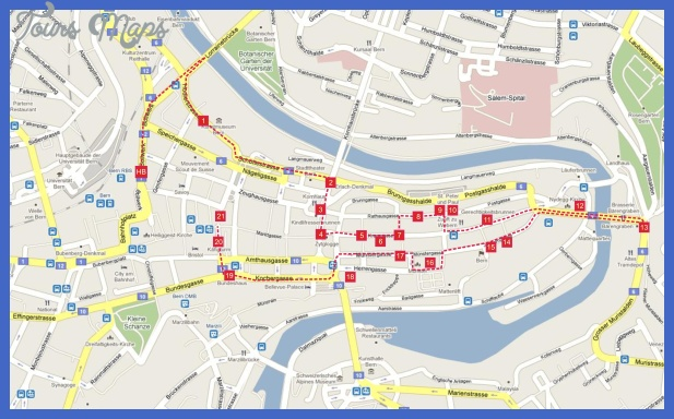 map of berne switzerland 0 Map of Berne Switzerland