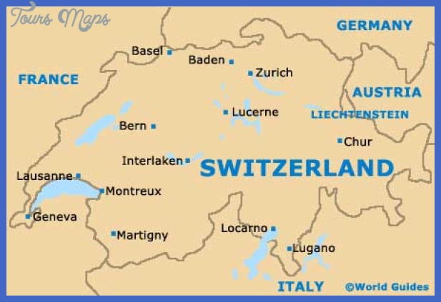 Map of Berne Switzerland - ToursMaps.com ®