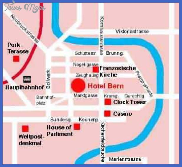 map of berne switzerland 6 Map of Berne Switzerland