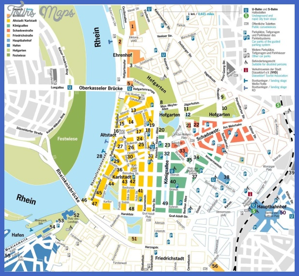 Large map of Dusseldorf