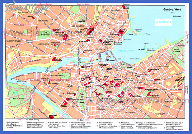 map of geneva 0 Map of Geneva