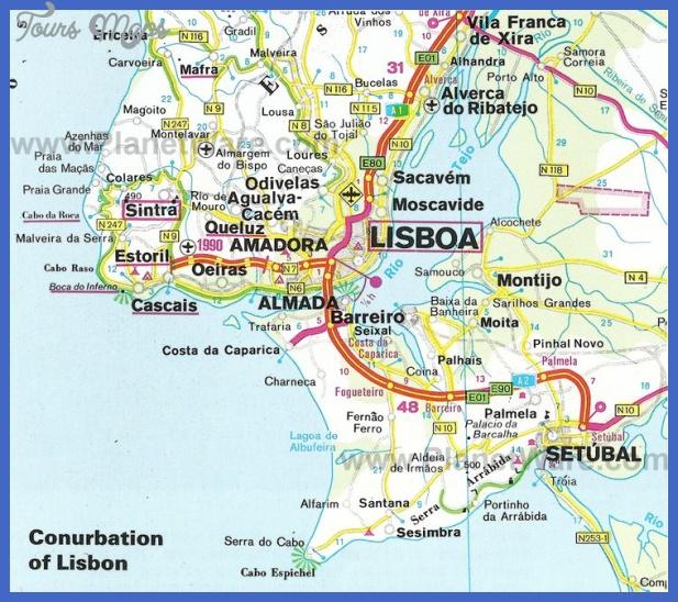 Map Of Lisbon Map Travel Holiday Vacations - Lisbon portugal neighborhoods map