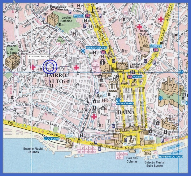 Map of Lisbon ToursMapscom