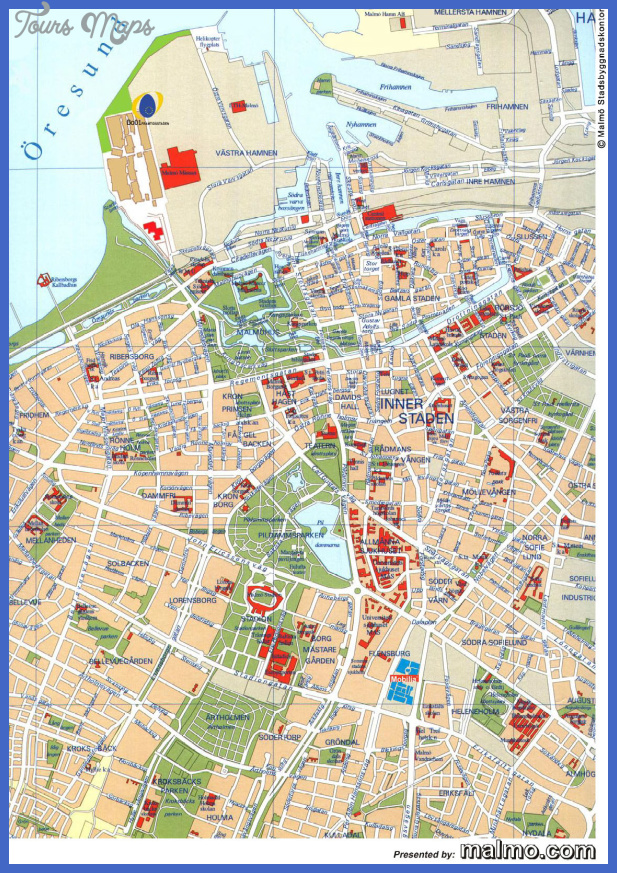 map of malmo sweden 0 Map of Malmo Sweden