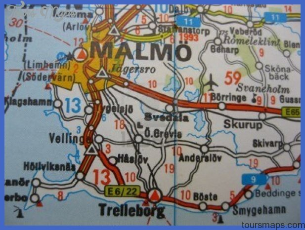 map of malmo sweden 1 Map of Malmo Sweden