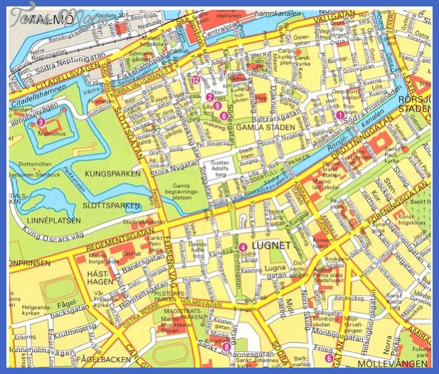 map of malmo sweden 2 Map of Malmo Sweden