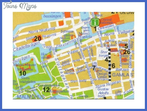 Map of Malmo Sweden ToursMapscom