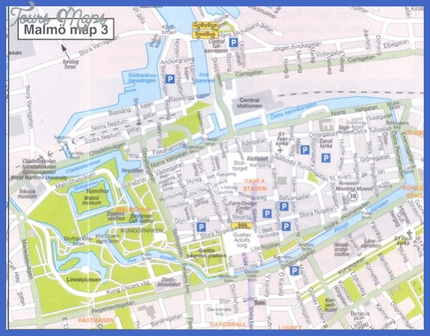 map of malmo sweden 6 Map of Malmo Sweden