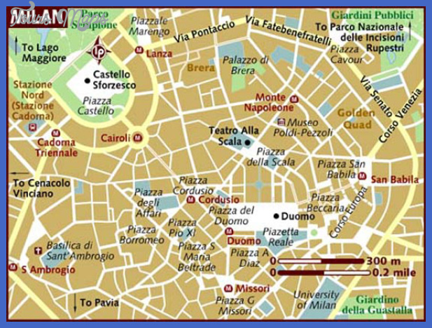 map of milan 9 Map of Milan