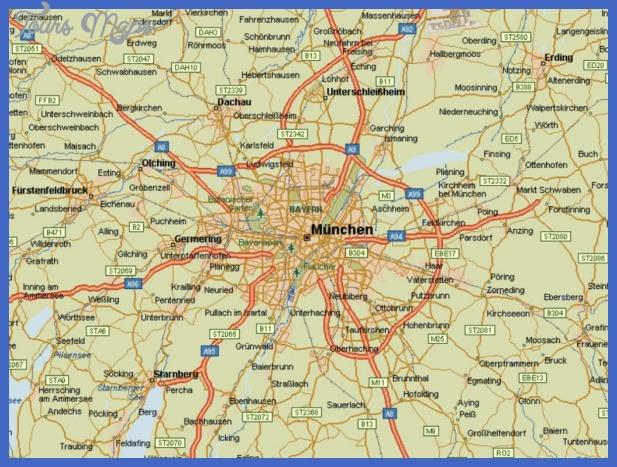 map of munich 5 Map of Munich