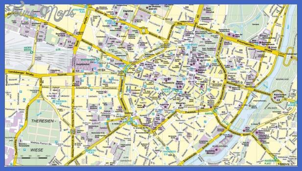 Munich map - Full size