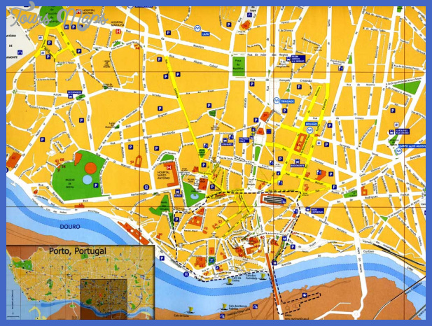 Map of Porto Portugal ToursMapsCom – Portugal Tourist Map