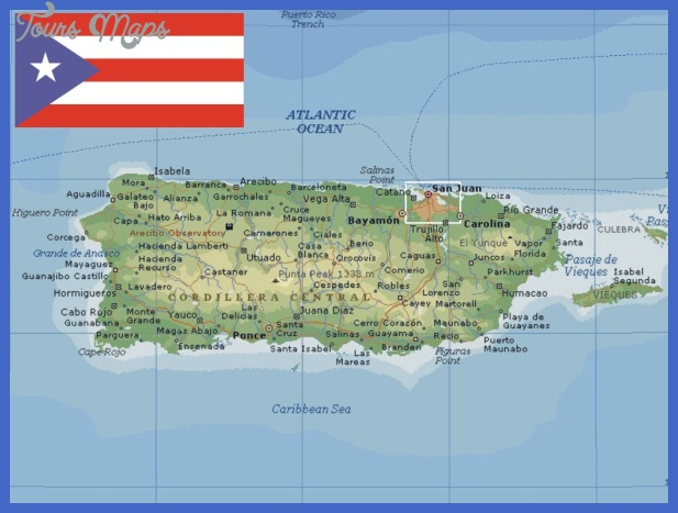 Puerto Rican Map Dot puerto rico map 1