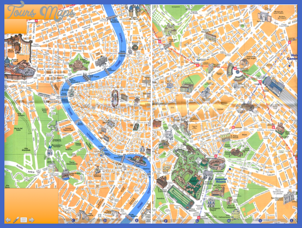 tourist map of rome italy