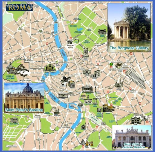 Rome Tourist Map See map details From galttech.com