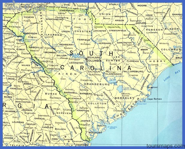 map of south carolina 0 Map of South Carolina