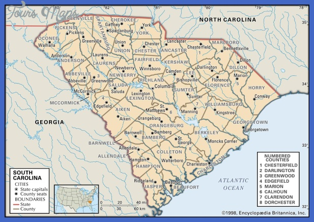 map of south carolina 3 Map of South Carolina