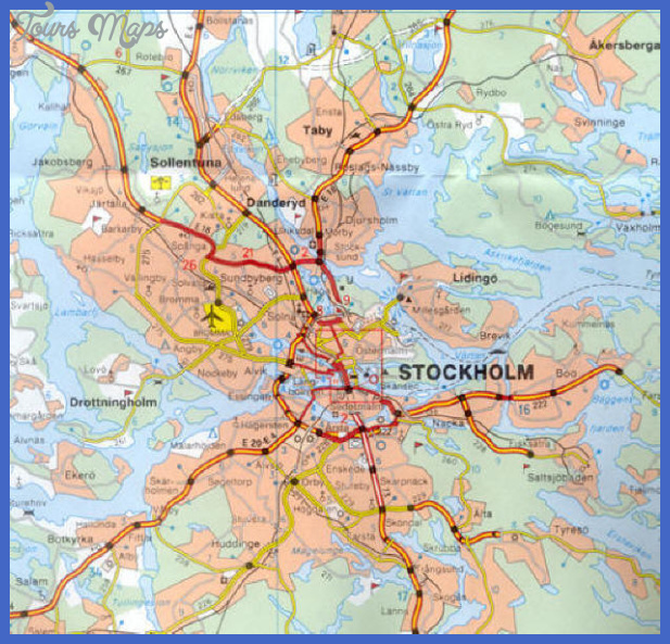 Map of Stockholm ToursMapscom