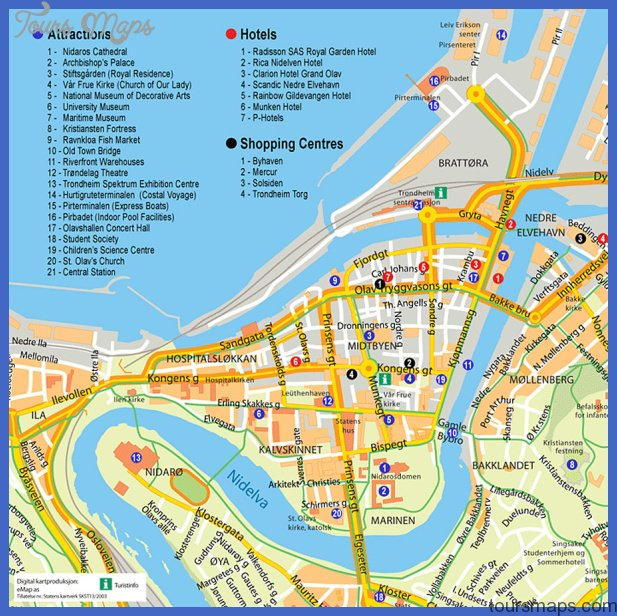 Trondheim Tourist Map See map details From vldb2005.org Created 3/2003