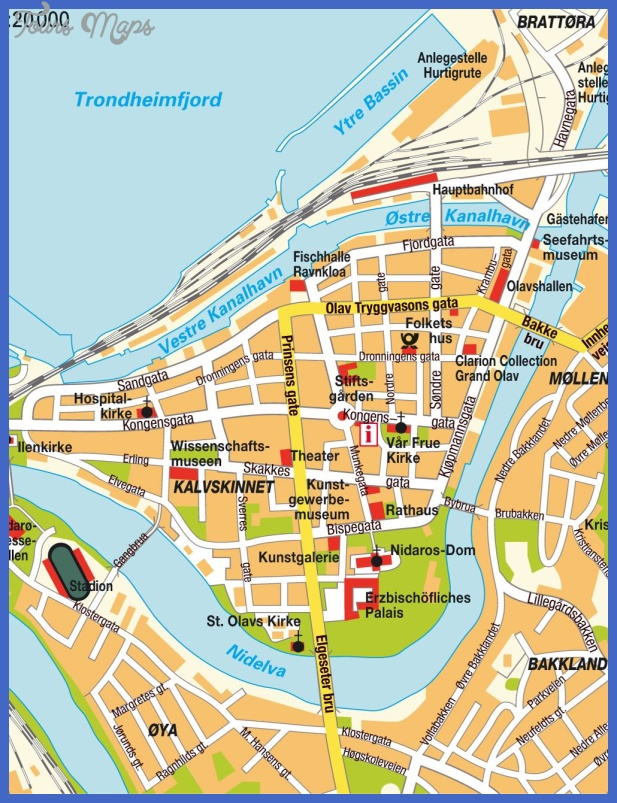 map of trondheim 1 Map of Trondheim