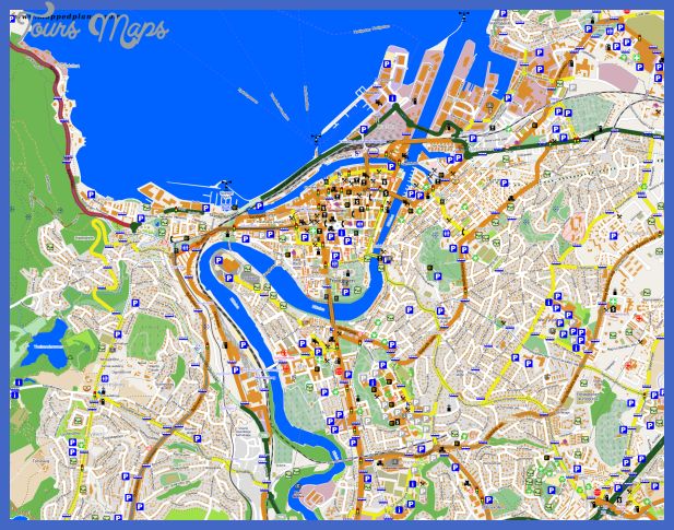map of trondheim 11 Map of Trondheim