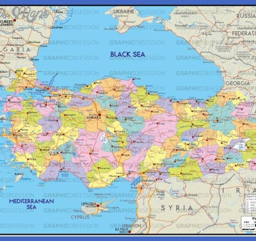 Map Of Turkey - 10...