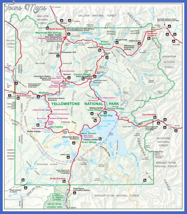map of yellowstone 24 Map of Yellowstone