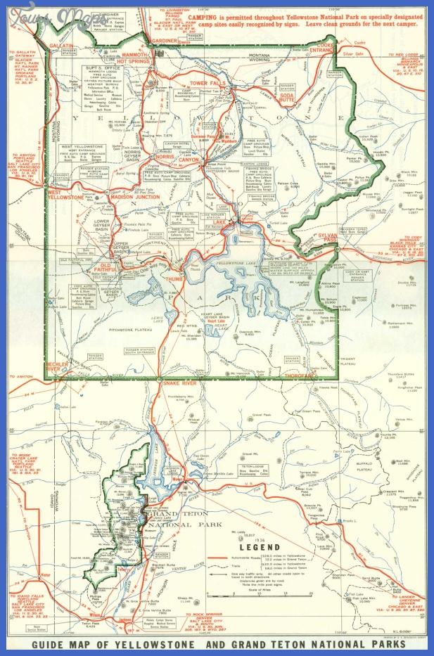 map of yellowstone 7 Map of Yellowstone