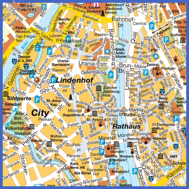 map of zurich switzerland 0 Map of Zurich Switzerland