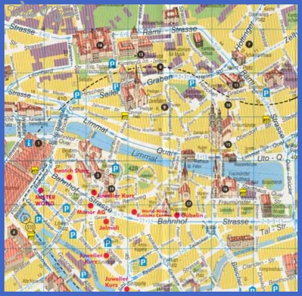 Zurich Map - Zurich Maps Switzerland - City Street Map