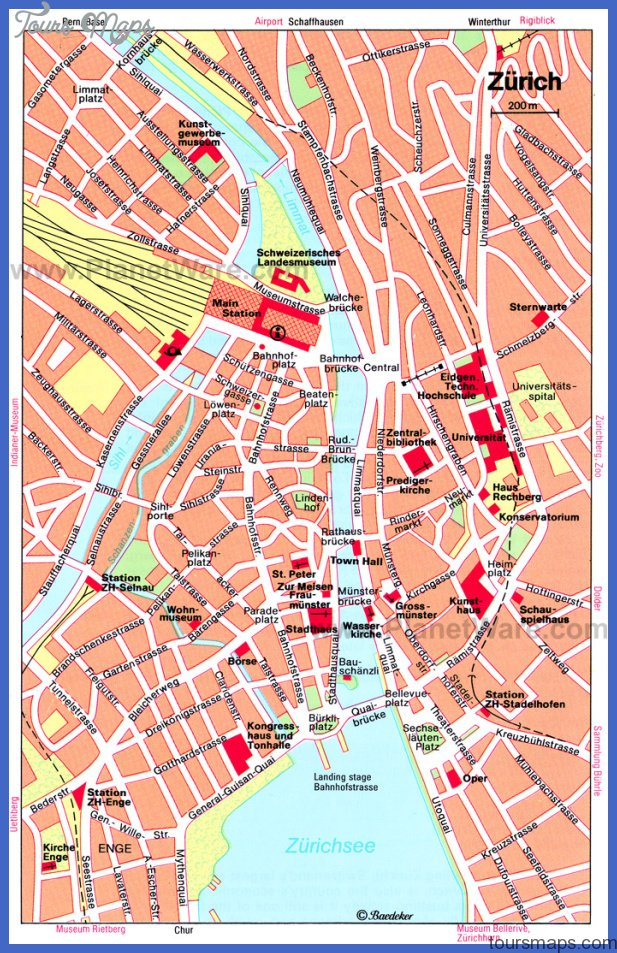 Zurich Map - Attractions