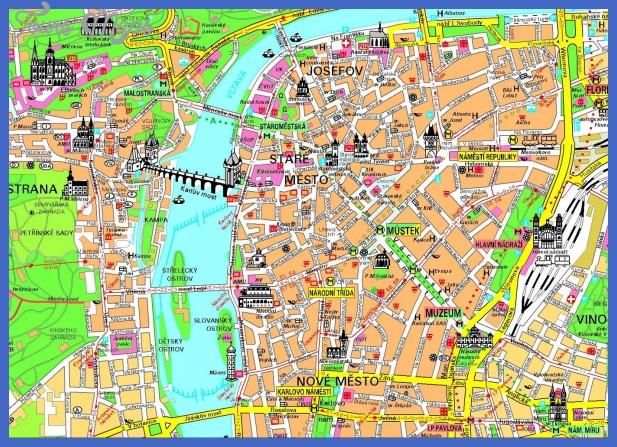prague map 1 PRAGUE MAP