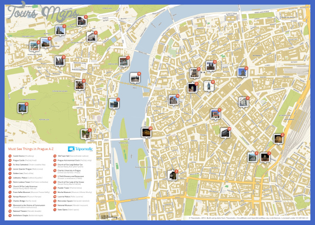 Tourism Prague Map