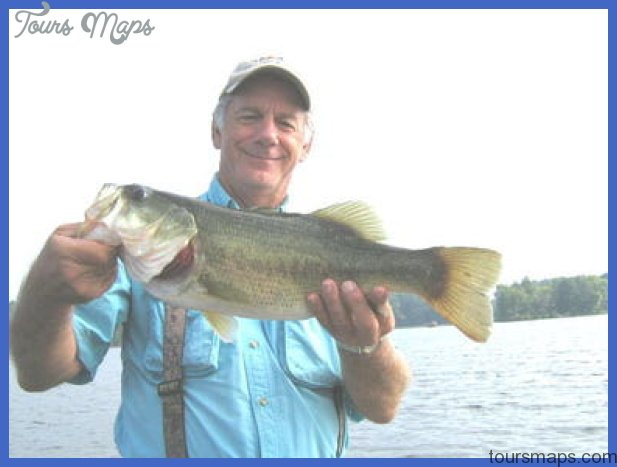 am holding a bass Captain Mike Gerry caught when I was fishing with ...