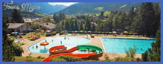 alpine outdoor pool in radstadt adventure bathing lake in eben lake ...